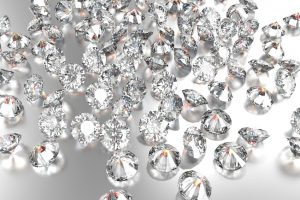 Luxury diamonds on white backgrounds